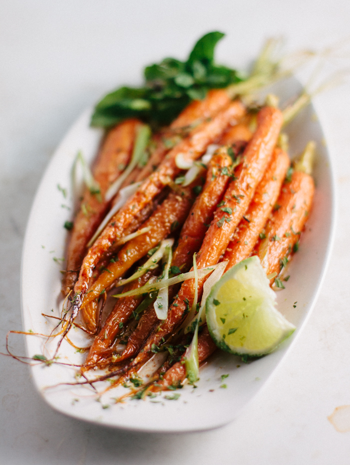 Roasted Carrots in Cumin & Lime